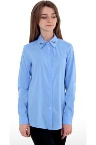 Блузка 244 (40-46) голубая