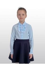Блузка 229 (30-34) голубая